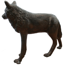 Wolf Standing L-48″ x W-10″ x H-33″