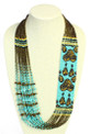Turquoise and Brass Magnetic Clasp NE 705-132