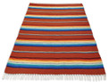 Sarape Rust Heavy Cotton Weave Made in Mexico