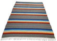 Sarape Gray Heavy Cotton Weave Made in Mexico