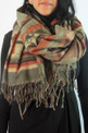 "Comfortable and Light Alpaca Shawl Wrap Scarf in Geometric Patterns 27"" x 72"""