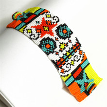 Magnetic Day of the Dead Sugar Skull Bracelet Multicolored BR603