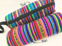 """Cylindrical Long Make Up Pouch 3"""" x 7"""""""
