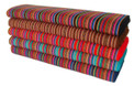 "Teal, Light Blue, Red, Brown, Multicolored Manta Aguayo Fabric Loomed 47"" Wide rolls are sold by the yard- Minimum 1 Yard"