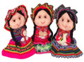 """Traditional Peasant Doll Costume Doll Peru 8"""" Hand Made"""