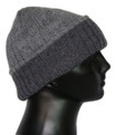 Solid Shades Two Tone 100% Alpaca Beanie