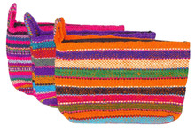 Hand Loomed Rustic Wool Money Pouch and Make Up Purse