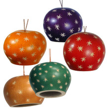 "Dome and Stars Bell Ornament 2.5"" Color Mix"