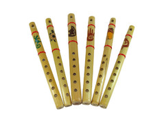 "Painted Frontier Flute 12"" Natural Western Patterns"