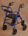 NC89088-1 North Coast Medical Transport Rollator Blue