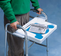 NC94349 North Coast Medical Walker Tray, White Plastic