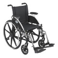 """l414dda-sf Drive Medical Viper Wheelchair with Flip Back Removable Arms, Desk Arms, Swing away Footrests, 14"""" Seat"""
