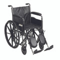 ssp218dfa-elr Drive Medical Silver Sport 2 Wheelchair with Detachable Full Arms and Elevating Leg Rest
