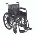 ssp218dfa-sf Drive Medical Silver Sport 2 Wheelchair with Detachable Full Arms and Swing Away Footrest