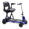 flex Drive Medical ZooMe Flex Ultra Compact Folding Travel 4 Wheel Scooter, Blue