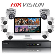 8 Hikvision DIY TurboHD CCTV Dome camera kit with DVR Recorder