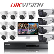 12 Hikvision EXIR camera kit with TurboHD FULL HD DVR Recorder
