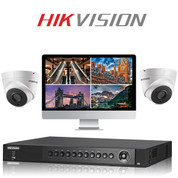 2 Hikvision HD CCTV Dome camera kit with DVR Recorder