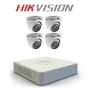 4 Hikvision TurboHD DS-2CE56D1T-IRM CCTV camera kit with DVR Recorder