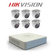 6 Hikvision CCTV camera kit with DS-7100HQHI-F1/N Series TurboHD DVR