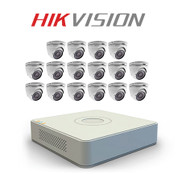 16 Hikvision camera kit with TurboHD DVR Recorder