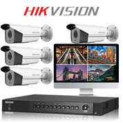 4 Hikvision CCTV DS-2CE16F7T-IT3 camera kit with DVR Recorder