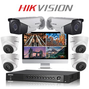 6 Hikvision 5MP TurboHD CCTV Bullet and Dome kit with DVR Recorder