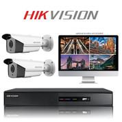 2 Hikvision TurboHD CCTV Bullet camera kit FULL HD DVR Recorder