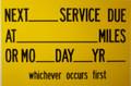 Next Service Due