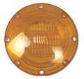 2-1080S-1100, Weldon 1080 Series Halogen Warning Light 1 Wire with Stainless Steel Back (Amber)