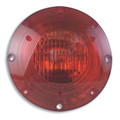 1-1080S-1100, Weldon 1080 Series Halogen Warning Light 1 Wire with Stainless Steel Back (Red)