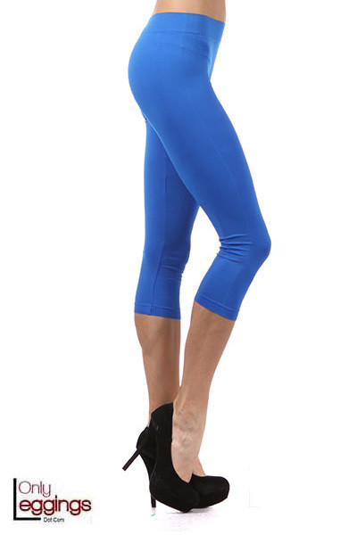 Basic Capri Length Spandex Leggings