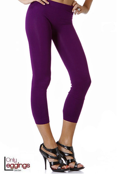 Colorful Seamless Capris Onesize Leggings