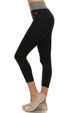 Charcoal Heather Waist Active Leggings