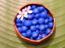 Blue Painted Loose Kukui Nuts