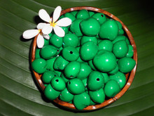Green Painted Loose Kukui Nuts