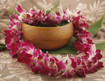 Fresh Hawaiian Orchid Lei D-45