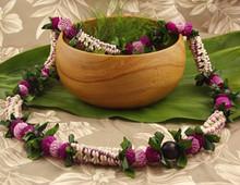 fresh hawaiian flower lei crown with boru the hawaiian market