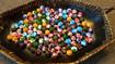 Loose Wood Beads MIX of Hibiscus and Honus - 130 per order