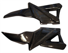 Speedset for BMW K1200R, K1300R in glossy twill weave carbon.