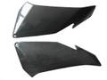 Under Upper Fairing Covers for Aprilia Tuono V4 11+ in Glossy Plain Weave Carbon Fiber