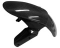 Front Fender in Glossy Twill Weave Carbon Fiber for Kawasaki ZX6R 2013+