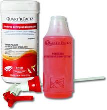 ST-691 Quart'R Packs Powdered Det/Disinf