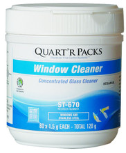 Window Cleaner - Quart''R Packs - 4 per case