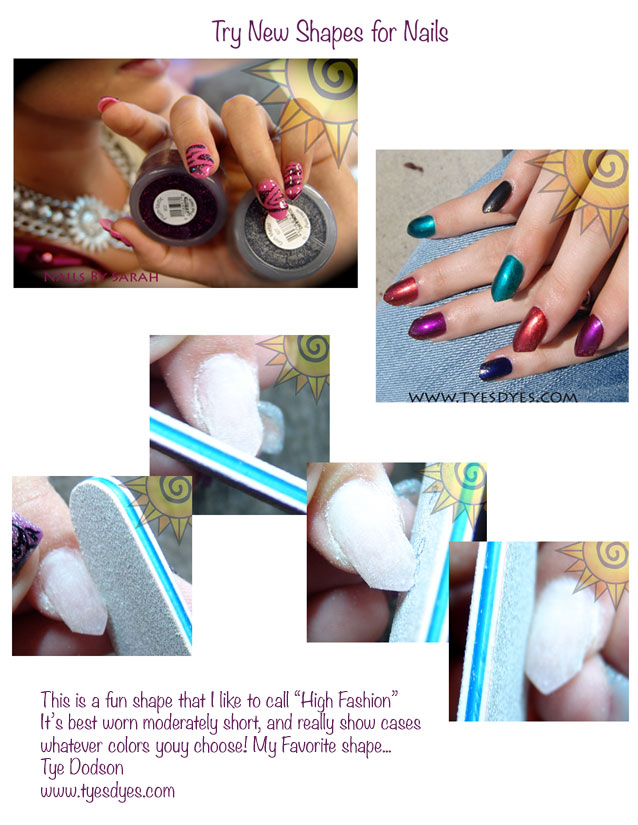 New Nail Shapes - TYE\'S DYES Store