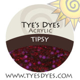 Tipsy A deep Red Wine with Fuschia Sparkles is sure to keep you off balance