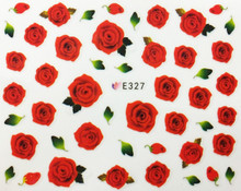 Red Rose Nail Stickers