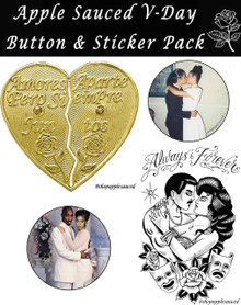 Apple Sauced Lovers Sticker & Button Pack (3 stickers & 3 buttons)