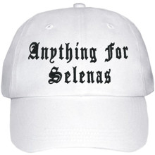 Anything For Selenas Hat (White W/ Black)