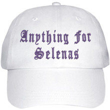 Anything For Selenas Hat (White W/ Purple Embroidery) LIMITED EDITION